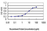 Detection limit for recombinant GST tagged ATP2B1 is approximately 0.3 ng/ml as a capture antibody.