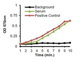 AChE activity in serum (1 µl) & Positive Control (1 µl).