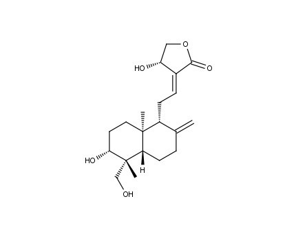 Andrographolide Biochemical - Andrographolide Structure