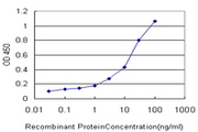 Detection limit for recombinant GST tagged ERBB3 is approximately 0.3 ng/ml as a capture antibody.