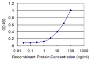 Detection limit for recombinant GST tagged SLPI is 0.3 ng/ml as a capture antibody.