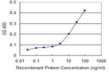 Detection limit for recombinant GST tagged ATG12 is 1 ng/ml as a capture antibody.
