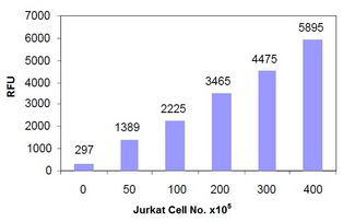 Measurement of Cathepsin H activity in Jurkat cells.