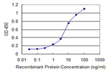 Detection limit for recombinant GST tagged CCL2 is 0.1 ng/ml as a capture antibody.