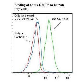 CD74 / CLIP Antibody - Flow cytometry of CD74 antibody This image was taken for the unconjugated form of this product. Other forms have not been tested.
