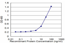CD9 Antibody - Detection limit for recombinant GST tagged CD9 is approximately 1 ng/ml as a capture antibody.