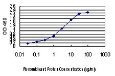 Detection limit for recombinant GST tagged CDK8 is approximately 0.03 ng/ml as a capture antibody.