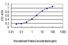Detection limit for recombinant GST tagged EIF2AK2 is approximately 0.1 ng/ml as a capture antibody.