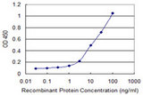 Detection limit for recombinant GST tagged HLA-DQA1 is 0.3 ng/ml as a capture antibody.