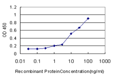 Detection limit for recombinant GST tagged HLA-DRB4 is approximately 1 ng/ml as a capture antibody.