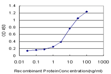 Detection limit for recombinant GST tagged LMTK2 is approximately 0.1 ng/ml as a capture antibody.