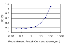 TRAF3IP2 / ACT1 Antibody - Detection limit for recombinant GST tagged TRAF3IP2 is approximately 1 ng/ml as a capture antibody.