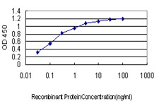 Detection limit for recombinant GST tagged IMPDH1 is approximately 0.03 ng/ml as a capture antibody.