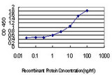 Detection limit for recombinant GST tagged IRF4 is approximately 0.03 ng/ml as a capture antibody.
