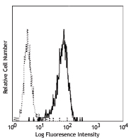 ITGAM / CD11b Antibody - PMA activated human granulocytes stained with CBRM1/5 FITC