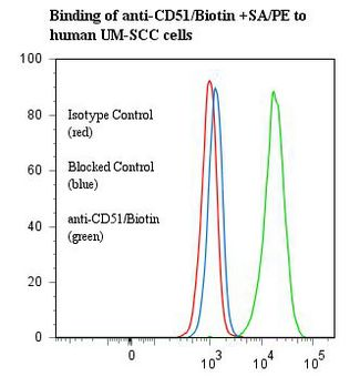 ITGAV/Integrin Alpha V/CD51 Antibody - Flow cytometry of ITGAV/Integrin Alpha V/CD51 antibody This image was taken for the unconjugated form of this product. Other forms have not been tested.