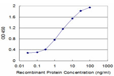 Detection limit for recombinant GST tagged ITGB6 is approximately 0.03 ng/ml as a capture antibody.