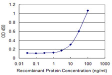 Detection limit for recombinant GST tagged LEPR is 1 ng/ml as a capture antibody.