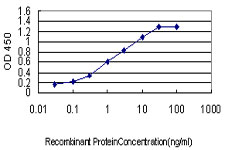 Detection limit for recombinant GST tagged MCC is approximately 0.03 ng/ml as a capture antibody.