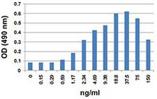 CCL3 / MIP-1-Alpha Protein - Mouse CCL3 chemoattracts Baf3-hCCR5 transfectants