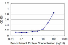 Detection limit for recombinant GST tagged NAB2 is approximately 1 ng/ml as a capture antibody.