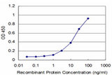 Detection limit for recombinant GST tagged PBX3 is approximately 1 ng/ml as a capture antibody.