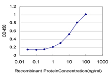 Detection limit for recombinant GST tagged PLA2G1B is approximately 0.3 ng/ml as a capture antibody.
