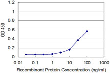 Detection limit for recombinant GST tagged RHOA is approximately 10 ng/ml as a capture antibody.