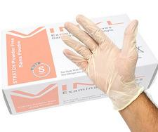Product - LS-J2195 - Stretch Vinyl Powder-Free Examination Gloves