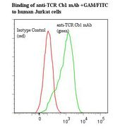 Flow cytometry of T Cell Receptor Cbeta 1 antibody This image was taken for the unmodified form of this product. Other forms have not been tested.