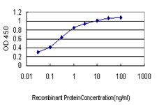 Detection limit for recombinant GST tagged TSSK2 is approximately 0.03 ng/ml as a capture antibody.