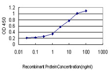 Detection limit for recombinant GST tagged UBE2G2 is approximately 0.1 ng/ml as a capture antibody.