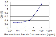 Detection limit for recombinant GST tagged ZNF44 is 0.3 ng/ml as a capture antibody.